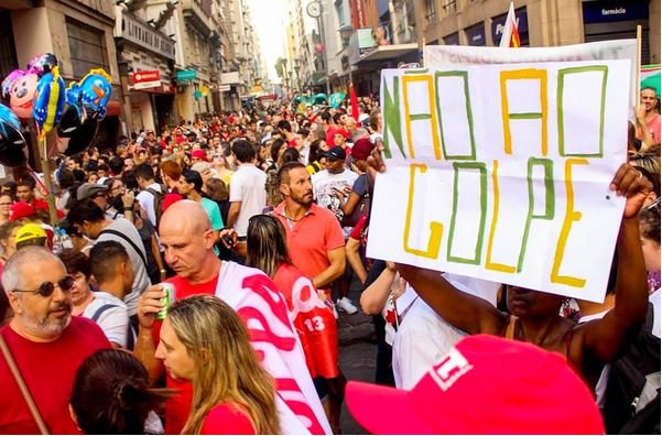 Pro-democracy demonstration in Brazil